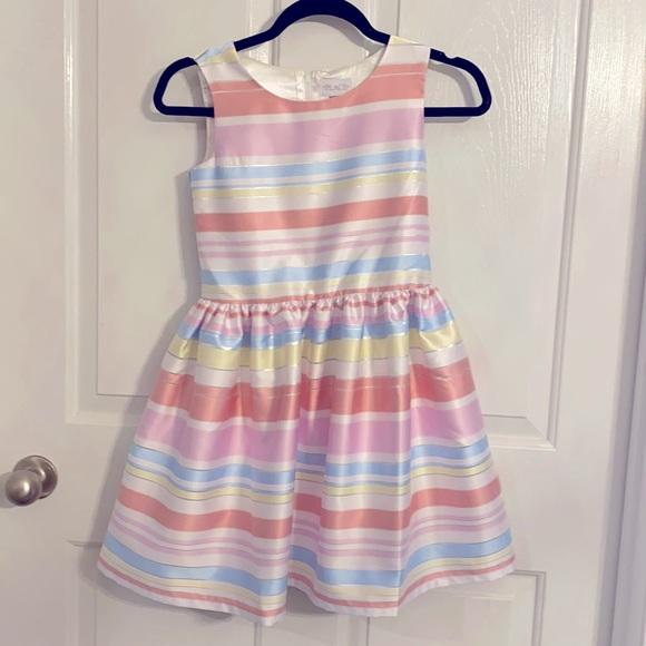 A-Line Multi-Color Stripes Fancy Dress